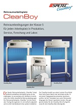 Reinraumstation CleanBoy Flyer
