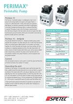 Perimax Prospekt peristaltic pumps for laboratory and analytical work