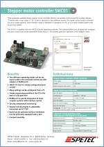 Data sheet Stepper motor controller SMC01