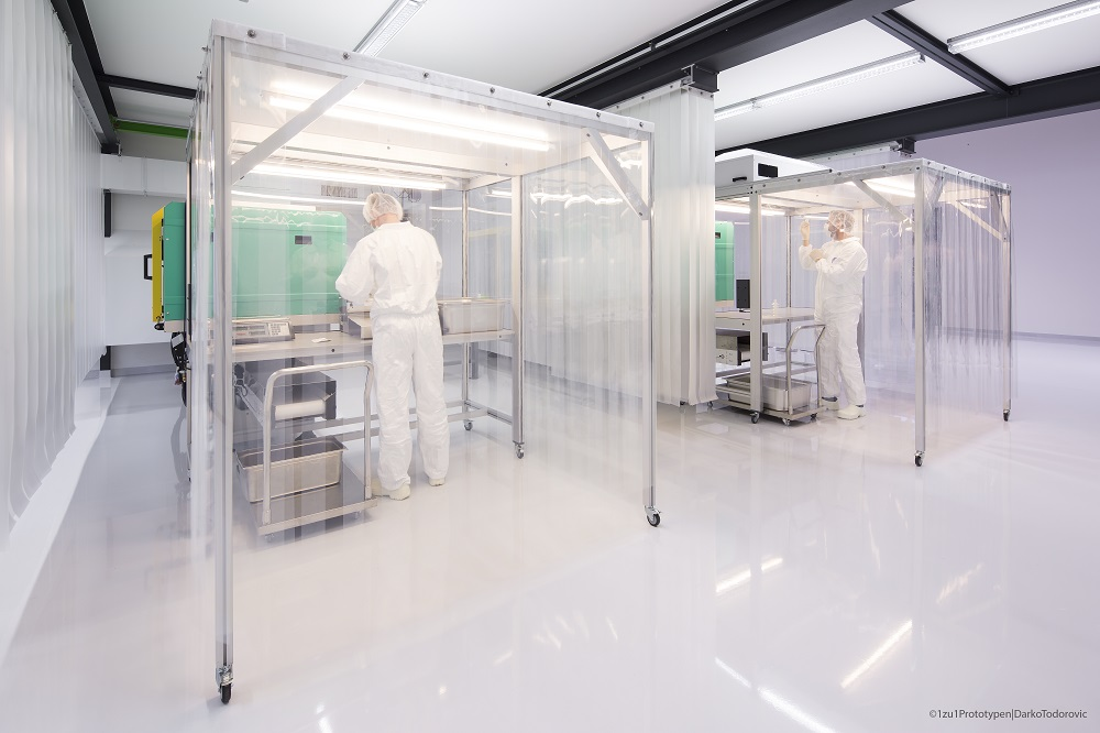 Clean room application plastic production