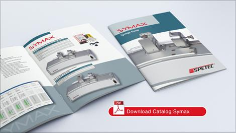 Mockup Syringe Pump Symax Catalogue